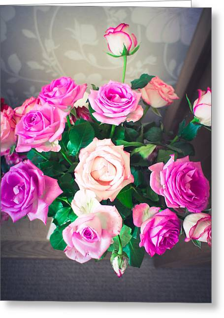 Soft Lilac Greeting Cards - Roses Greeting Card by Tom Gowanlock