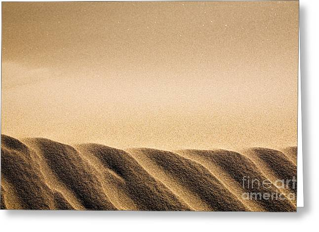 Abstract Beach Landscape Greeting Cards - Sand dunes Greeting Card by Kati Molin