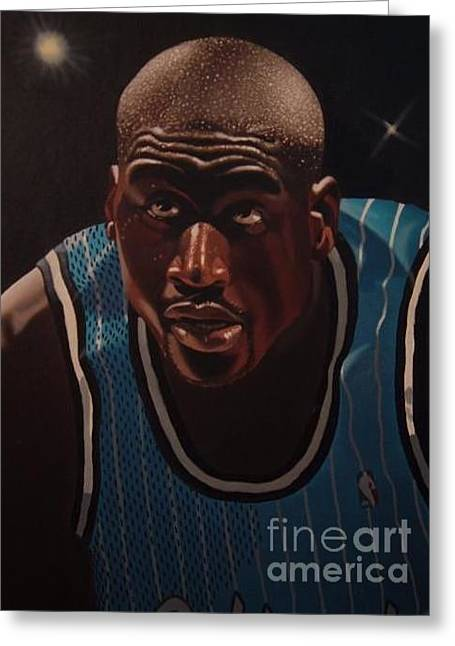 Shaq Greeting Cards - Shaq Greeting Card by Brandon Ramquist