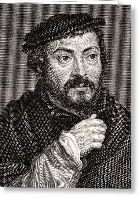 Many Drawings Greeting Cards - Sir Thomas More, Aka Saint Thomas More Greeting Card by Ken Welsh