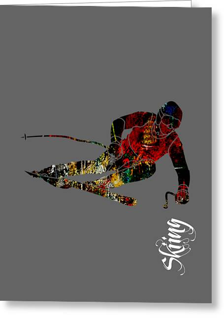 Skiing Art Prints Greeting Cards - Skiing Collection Greeting Card by Marvin Blaine