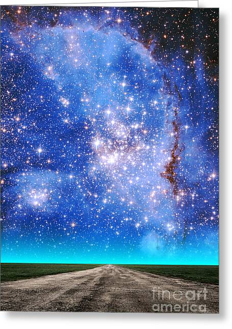 Small Magellanic Cloud Greeting Cards - Small Magellanic Cloud Greeting Card by Larry Landolfi