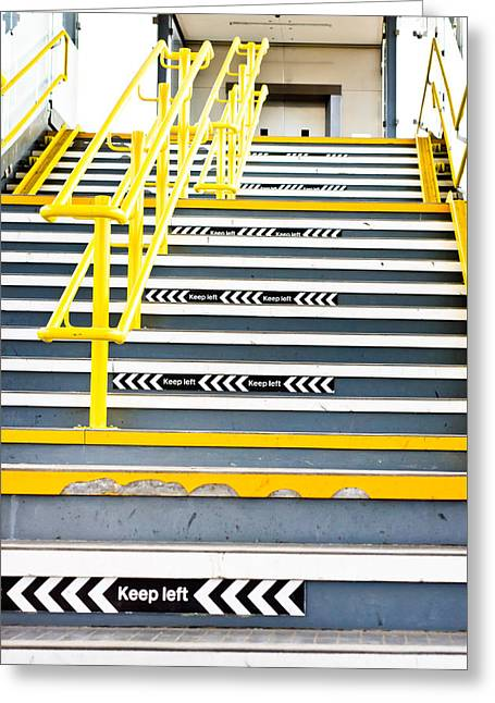 Advancing Greeting Cards - Stairs Greeting Card by Tom Gowanlock