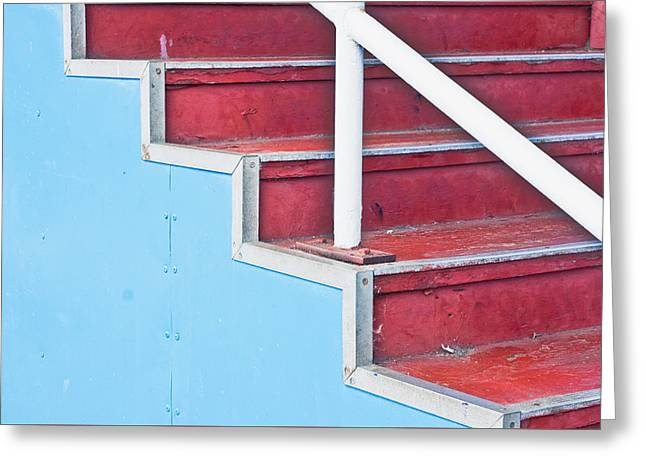 Wooden Stairs Greeting Cards - Steps Greeting Card by Tom Gowanlock