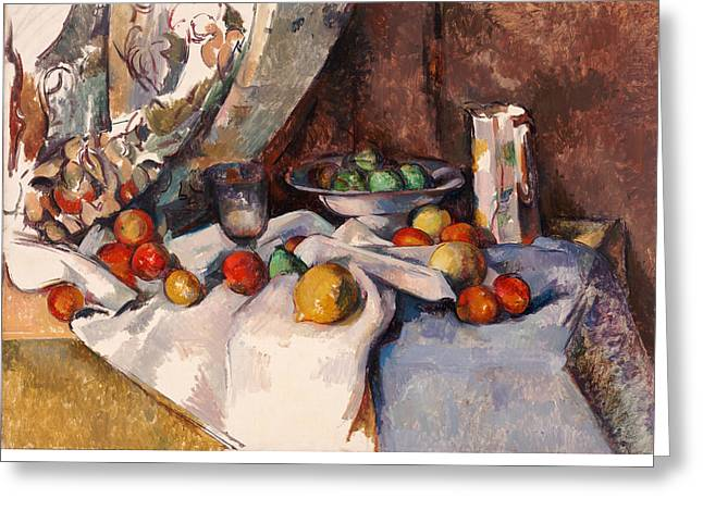 Still Life Greeting Cards - Still Life with Apples Greeting Card by Paul Cezanne