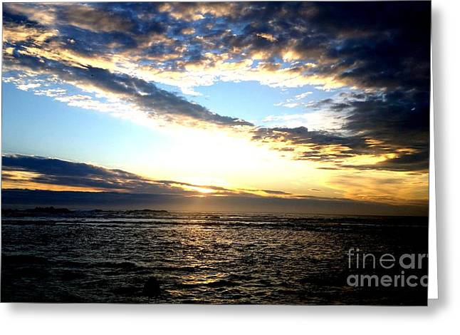 Greeting Cards - Sunrise Greeting Card by Joyce Woodhouse
