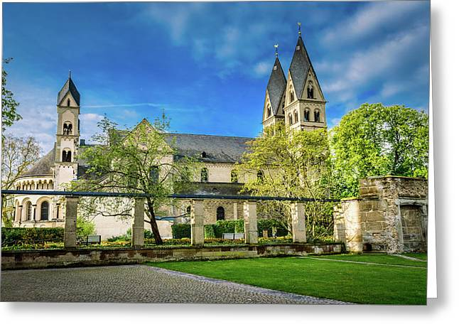 The Basilica St Kastor - Koblenz - Germany Greeting Card by Jon Berghoff