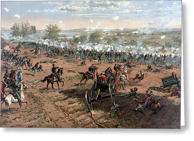 Confederate Greeting Cards - The Battle of Gettysburg  Greeting Card by War Is Hell Store