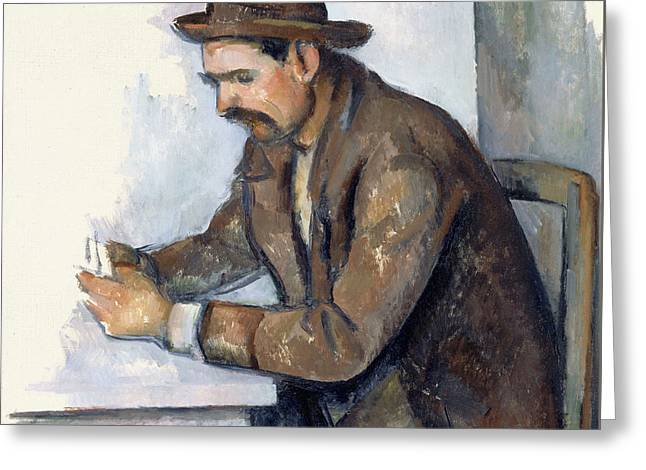 The Cardplayer  Greeting Card by Paul Cezanne