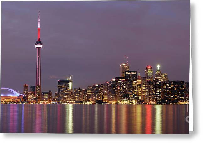 The City Of Toronto Greeting Card by Oleksiy Maksymenko