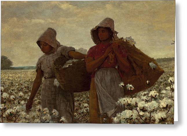 Cotton Pickers Greeting Cards - The Cotton Pickers Greeting Card by Winslow Homer