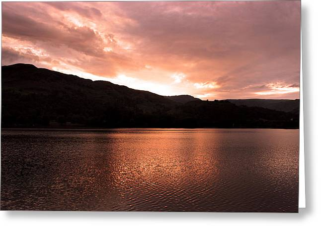 Low Light Greeting Cards - The Lake District Greeting Card by Martin Newman