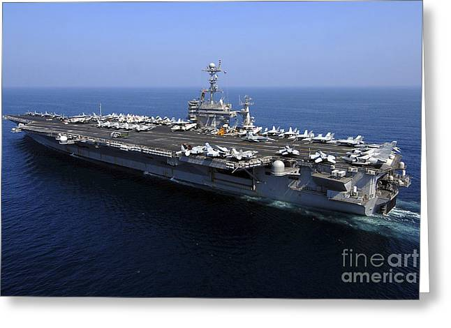 The Higher Planes Greeting Cards - The Nimitz-class Aircraft Carrier Uss Greeting Card by Stocktrek Images