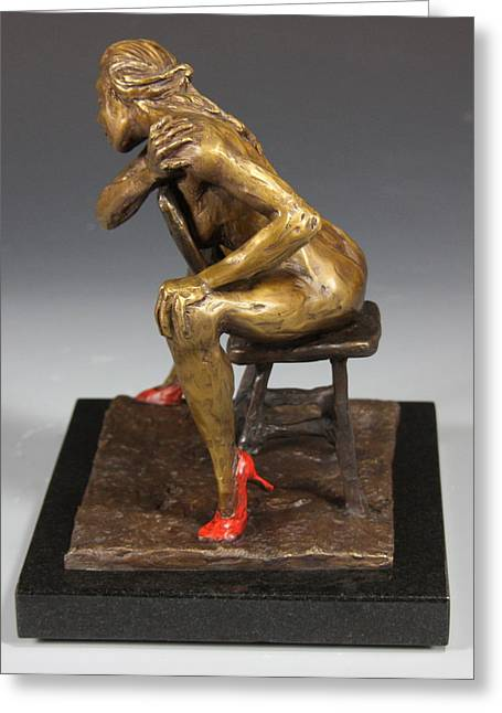 Female Nude Sculptures Greeting Cards - The Red Heels Greeting Card by Dan Earle