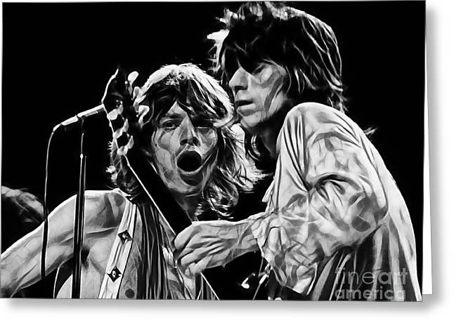 Mick Jagger And Keith Richards Greeting Cards - The Rolling Stones Collection Greeting Card by Marvin Blaine