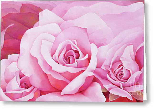 Bright Pink Greeting Cards - The Rose  Greeting Card by Myung-Bo Sim