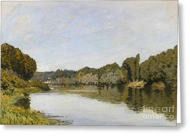 The Seine At Bougival Greeting Card by MotionAge Designs