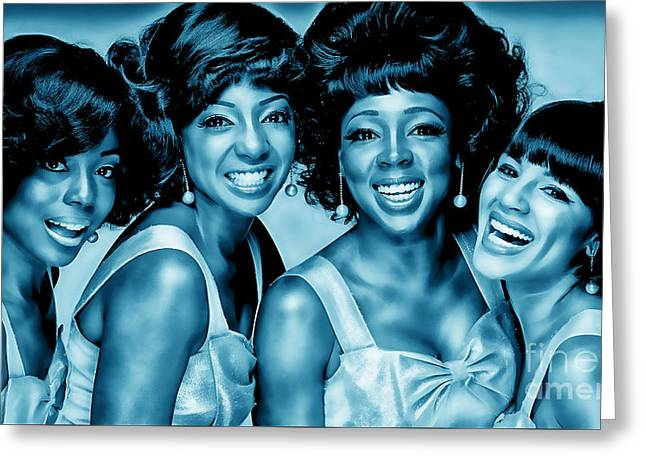 Pop Mixed Media Greeting Cards - The Shirelles Collection Greeting Card by Marvin Blaine