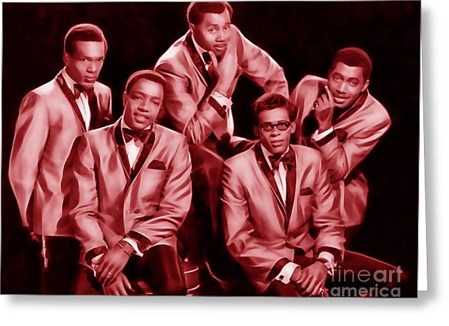 Soul Greeting Cards - The Temptations Collection Greeting Card by Marvin Blaine
