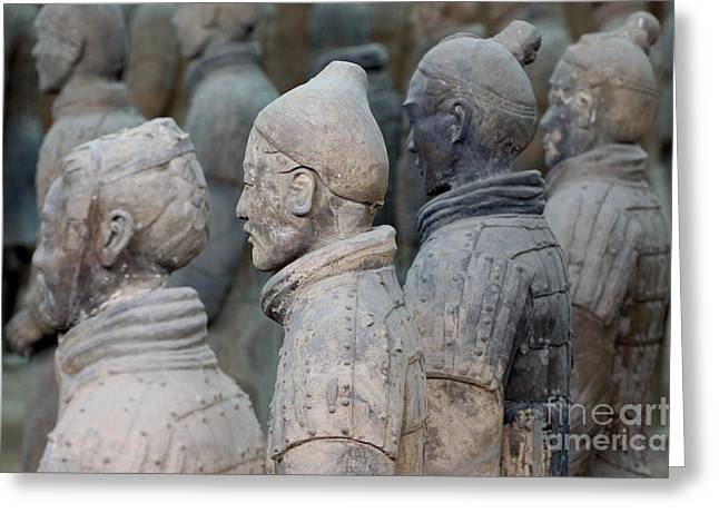 Qin Greeting Cards - The Terracotta Army Greeting Card by Sami Sarkis