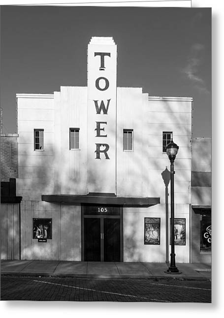 Lame Greeting Cards - The Tower Theatre of Lamesa Texas Greeting Card by Mountain Dreams