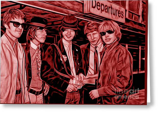 Hip Greeting Cards - The Yardbirds Collection Greeting Card by Marvin Blaine