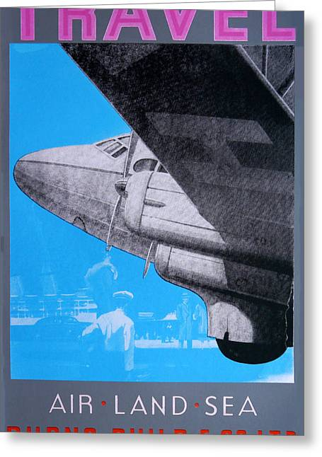 Jet Greeting Cards - Travel Air Land Sea Greeting Card by David Studwell
