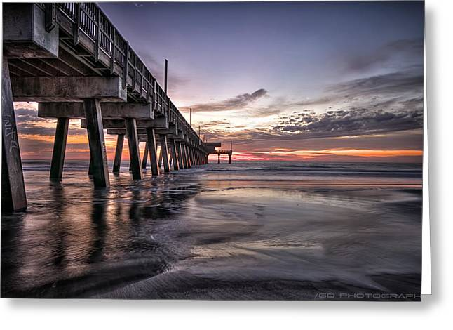Savannahs Greeting Cards - Tybee Island Greeting Card by Gagan  Dhiman