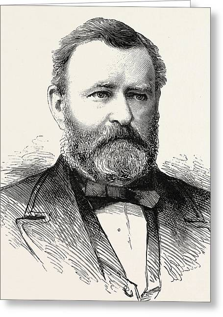 Engraving Greeting Cards - Ulysses S Grant Greeting Card by American School