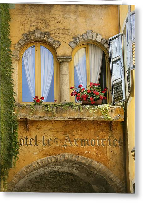 Arched Windows Greeting Cards - Untitled Greeting Card by Simon Kayne