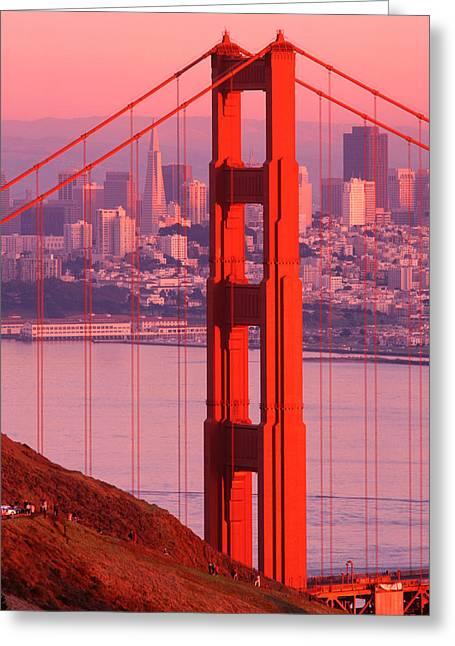 Usa, California, San Francisco, Golden Greeting Card by Panoramic Images