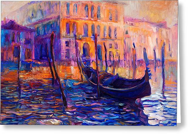 Venice, Italy By Ivailo Nikolov Greeting Card by Boyan Dimitrov
