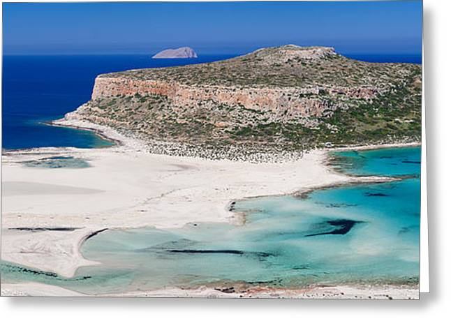 View Of The Balos Beach, Gramvousa Greeting Card by Panoramic Images