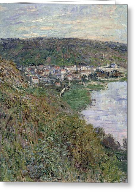 Vetheuil Greeting Cards - View of Vetheuil Greeting Card by Claude Monet