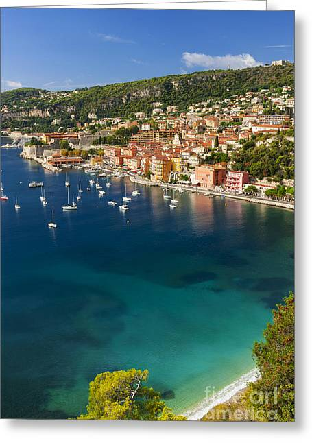 Villefranche-sur-mer View On French Riviera Greeting Card by Elena Elisseeva