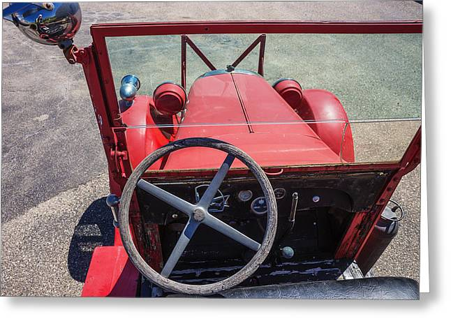 Artist Photographs Greeting Cards - Vintage Fire Truck Greeting Card by Donald  Erickson