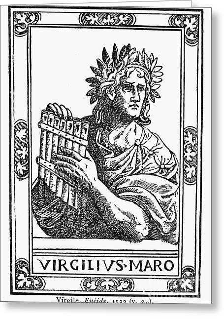Bard Greeting Cards - Virgil (70-19 B.c.) Greeting Card by Granger