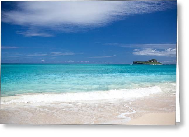 Ralf Kaiser Greeting Cards - Waimanalo Beach Greeting Card by Ralf Kaiser