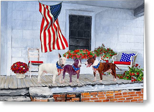 Bullie Greeting Cards - Waiting For The Big Parade Greeting Card by Ann Kallal