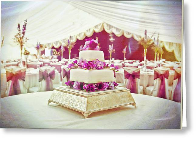 Occasion Greeting Cards - Wedding cake Greeting Card by Tom Gowanlock