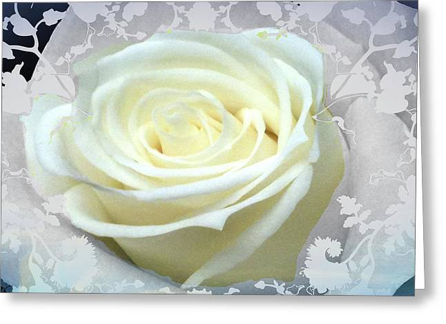 Favorite Color Blue Greeting Cards - Wedding Rose Collection  Greeting Card by Debra     Vatalaro