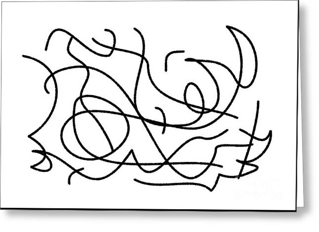 Winter Storm Drawings Greeting Cards - Windy Day Greeting Card by Chani Demuijlder
