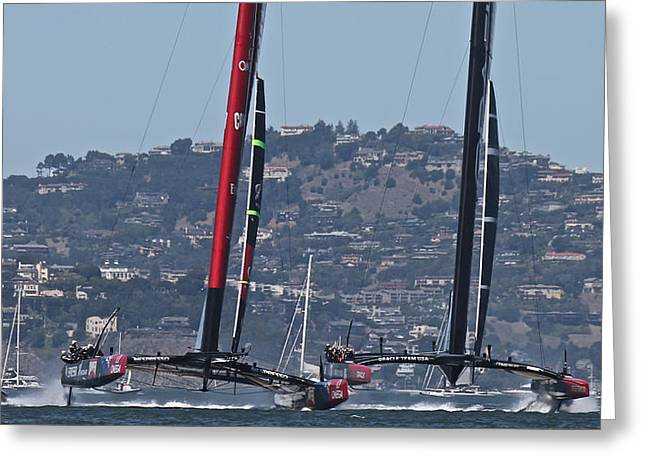 Americas Cup Greeting Cards - Americas Cup 34 Special Greeting Card by Steven Lapkin