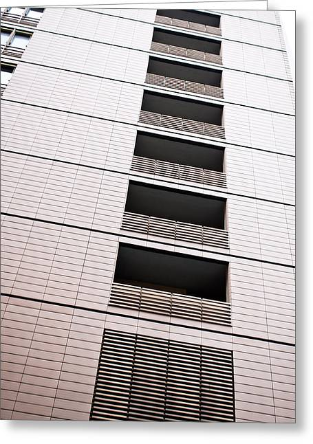 Conditions Greeting Cards - Modern building  Greeting Card by Tom Gowanlock
