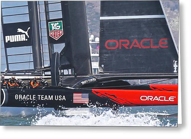 Oracle America's Cup Greeting Card by Steven Lapkin