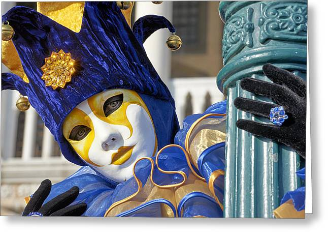 Creative People Greeting Cards - Venice Carnival Greeting Card by Marco Brivio