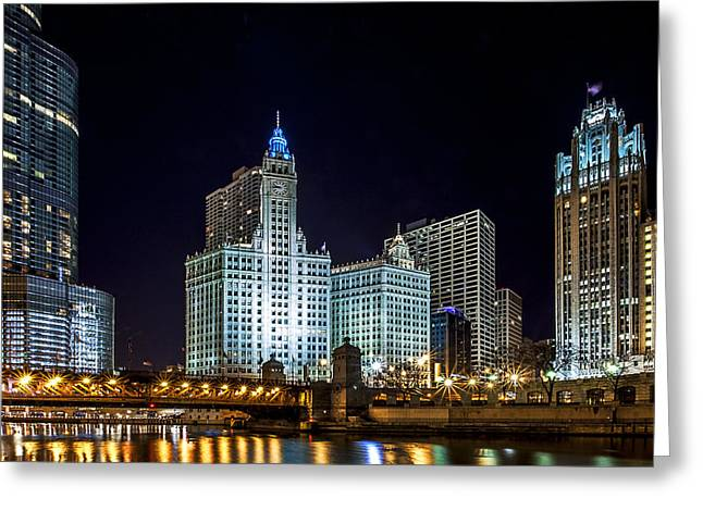 Michigan Ave Greeting Cards - 400 North Greeting Card by CJ Schmit