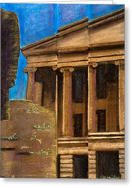 Tn Mixed Media Greeting Cards - #41 Capital Facade II Greeting Card by Alison Poland