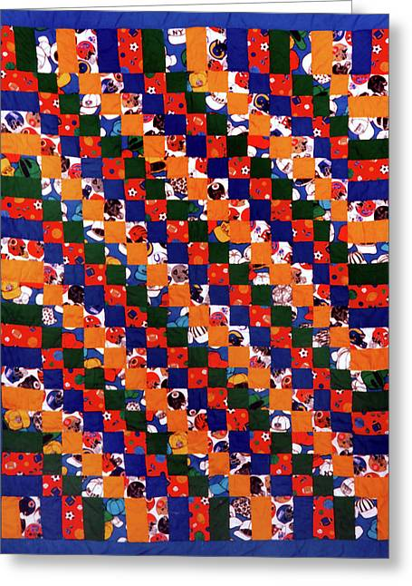 Large Tapestries - Textiles Greeting Cards - 41 Greeting Card by Mildred Thibodeaux