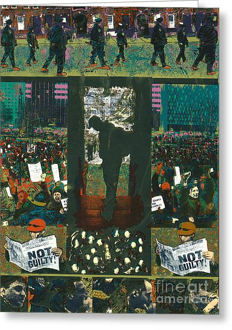 Protest Mixed Media Greeting Cards - 41 Shots Greeting Card by Harris Wiltsher